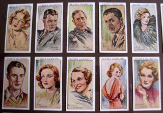 1939 Players Cigarette Cards Famous Men Women Actors Actresses Movie