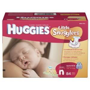 84 Huggies Supreme Baby Diapers Snugglers Newborn