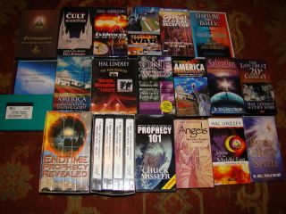 Religion VHS and DVD Hal Lindsey Chuck Missler Jack Van Impe Cults Lot