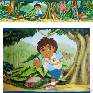Go Diego Monkey Jungle Forest Kid Wallpaper Wall Border