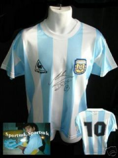 Diego MARADONA Signed WC86 Argentina Shirt Jersey Proof