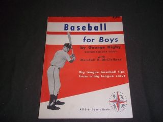 1960 Baseball for Boys Book by George Digby with Marshall McClelland