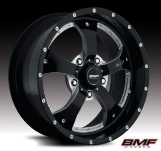 20 BMF DEATH METAL RIMS & NOVAKANE 33X12.50X20 TOYO OPEN COUNTRY MT