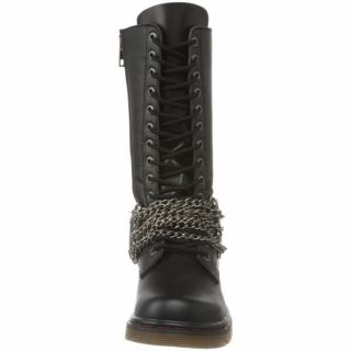 Demonia Goth Punk Biker Boots Mens Brass Knuckles Black PU Disorder