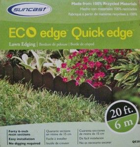 20 Black Lawn Garden Boarder Edging Suncast Eco Edge Quick Edge 40 6