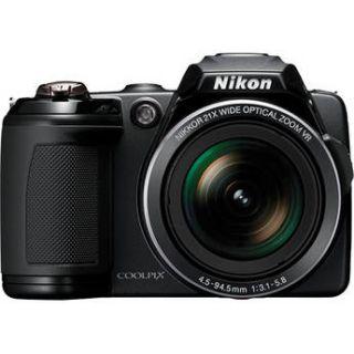 nikon coolpix l120 digital camera refurbished black
