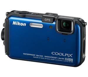 Coolpix AW100 Shock & Waterproof GPS Digital Camera Blue 16.0 MP USA