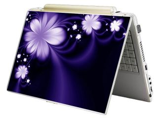 Bundle Monster Mini Netbook Laptop Notebook Skin Decal Purple Flower