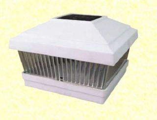 10 PK Solar White 5x5 Post Deck Cap Square Fence Light LED