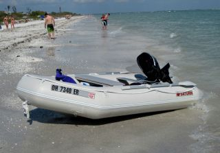 2009 Saturn 11ft Inflatable Dinghy and or 9 9 HP Mercury Outboard