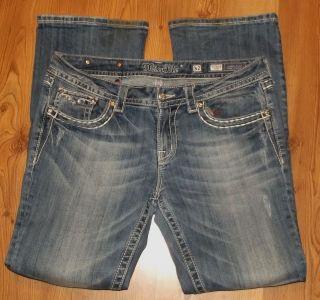 Miss Me Stretch Denim Jeans Jeweled Trendy EUC Tags 32 Actual 36x31