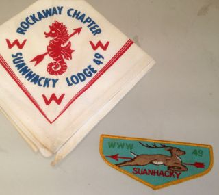 Vintage Boy Scout OA Neckerchief Patch Suanhacky Lodge 49 www Order