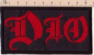 Dio Embroider Patch Heavy Metal Black Sabbath LP CD Elf