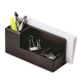Rolodex Wood Tones Desk Organizer Black