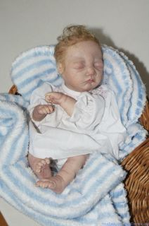 OOAK Hand Sculpted Mini Polymer Clay Baby Girl Doll 11 New