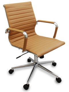 Modern Ribbed Office Chair   Great for Conference Room Tables & Desks
