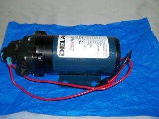 Delavan 12 VDC PowerFlo Diaphragm Pump Model 7812 201 BB 2 GPM 7 5 LPM