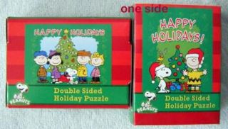 Snoopy Charlie Brown Christmas Double Sided Puzzles 2 Boxes
