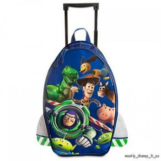 New  Toy Story Buzz Lightyear Rolling Luggage Suitcase to