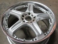 One Volk Racing GT5 18 Wheel Rim Silver JDM 18x7.5 +35 5x100