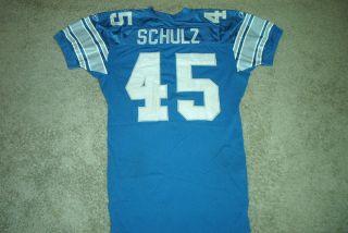 Detroit Lions Game Used Worn NFL Football Jersey Kurt Schulz 45