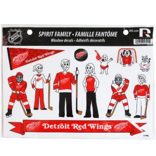 click an image to enlarge detroit red wings family decals sheet family