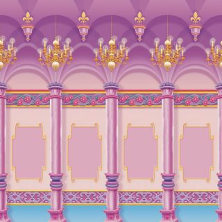 Disney Princess Scene Setter Room Roll Magical Palace
