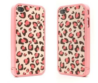 Pink Leopard Disney 86Hero Ero Travel Hard Case Back Cover for iPhone