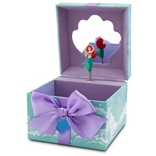 Disney Little Mermaid Princess ARIEL Musical JEWELRY Keepsake BOX Sea