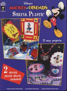 Crafts Disneys Mickey Friends Shrink Plastic 12 Projects Backpack Tag
