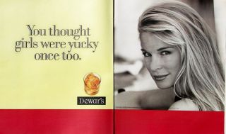 Dewars Gin Collectible 1996 Ad You Thought Girls Were Yucky Once Too