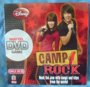 mattel disney camp rock dvd game nib