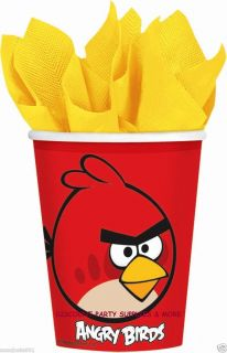 Angry Birds Red 9oz Hot Cold Paper Cups Party Supplies