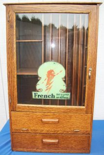 French Ray O Lites and Dry Batteries Oak Display Case