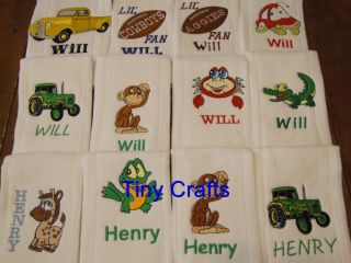 Burp Cloths Personalized Custom Embroidered Gift Baby/Shower