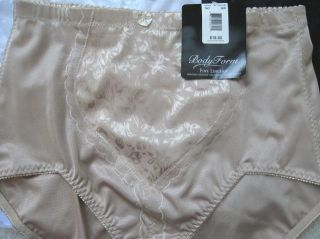 NWT Body Form by Delta Burke Size 7/L 3 Control Briefs  Shiny Floral