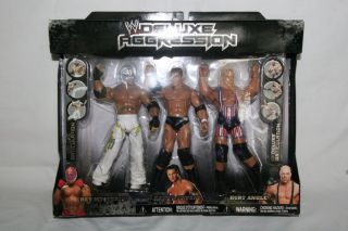 WWE Deluxe Aggression 3 Pack Series 4 Figure Rey Mysterio Randy Orton