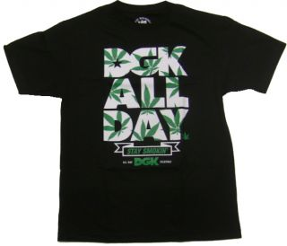 dgk skateboards stay smokin black shirt large brand new in shrink wrap