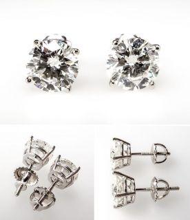 Carat Diamond Stud Earrings 14K White Gold Screw Back skujen7834