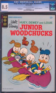 Huey Dewey Louie Junior Woodchucks 2 File Copy CGC 8 5