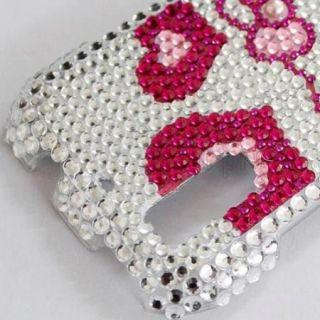 Bling Diamond Hearts Kitty Full Hard Case Cover for Motorola Photon 4G