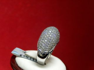 14k White Gold Diamond Pave Dome Ring 4 5 Ct Big Shroom