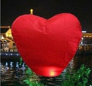 20pc Red Love Heart Fire Wishing Chinese Sky Lanterns Birthday Wedding