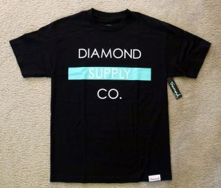 Diamond Supply Co Bar Logo Black T Shirt