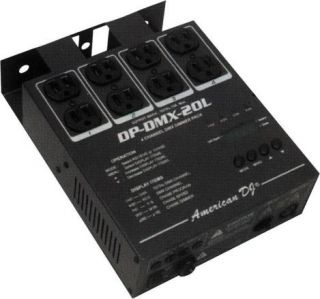DP DMX20L 4 CHANNEL UNIVERSAL DMX DIMMER PACK LIGHT CONTROL 600 WATT