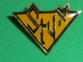 Die Cut Tour Hat Pin Badge Metal Enamel Rock Dennis DeYoung Rock Band