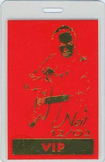 Neil Diamond 2002 Tour Laminated Backstage Pass VIP Red