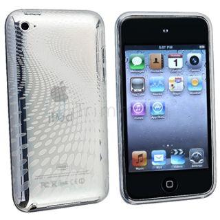 Clear Swirl Smoke Diamond Rubber TPU Skin Case Cover Film for iPod