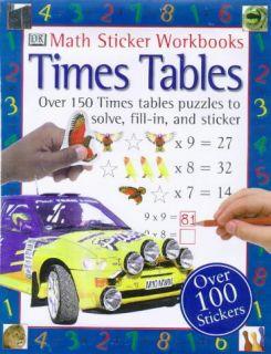 Times Tables DK Book Maths Sticker Workbook Series