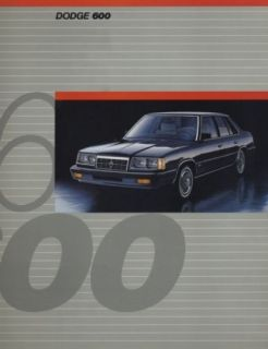 1986 Dodge 600 Dealer Sales Brochure Book Convertible